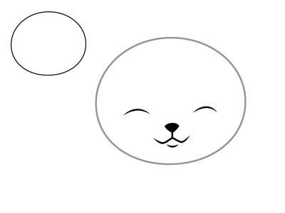 krugi-osnovy-pod-mordashku Как нарисовать котенка карандашом поэтапно для начинающих и детей? Как нарисовать котенка аниме с милыми глазками, мордочку котенка?