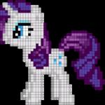 Пони с фиолетовой гривой и хвостом