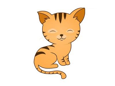 Раскрашенный котёнок-тигрёнок