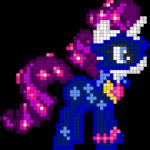 Яркий пони с украшением-звёздочками