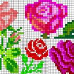 Четыре розы по клеткам