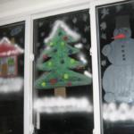 Домик, ёлка и снеговик