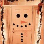 Дверь-снеговик