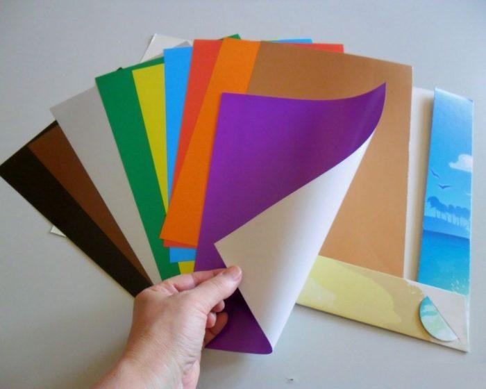 Глянцевая цветная бумага