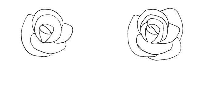 Рисунок розы для детей, фото 2