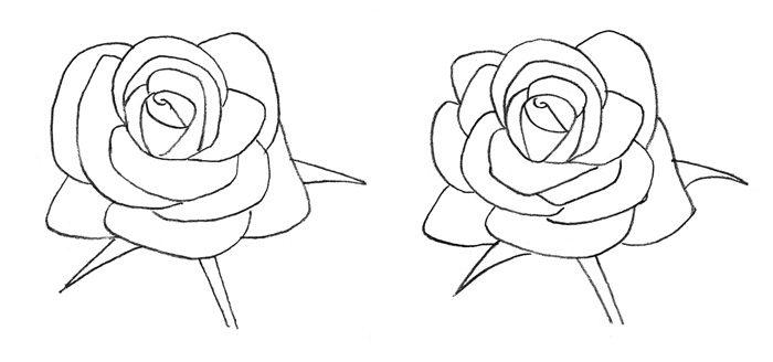 Рисунок розы для детей, фото 3