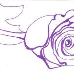 Рисунок розы ручкой, фото 4