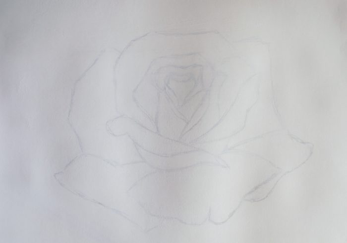 Роза гуашью, фото 2