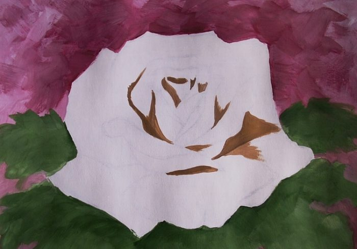Роза гуашью, фото 5