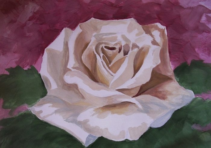 Роза гуашью, фото 7