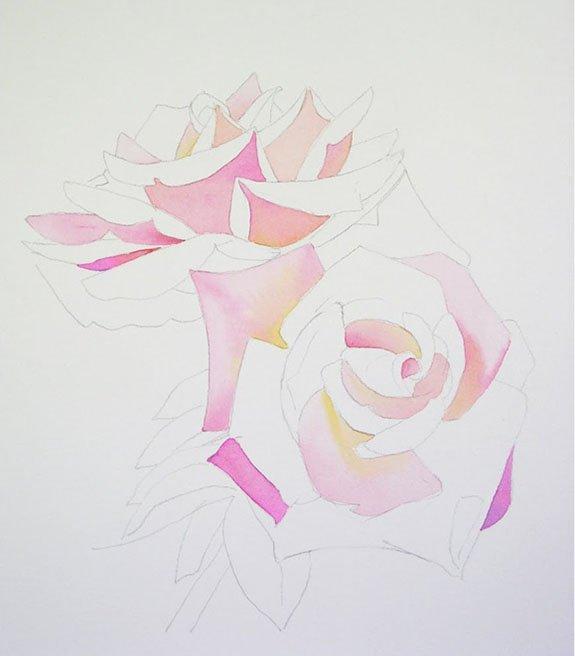 Розы акварелью, фото 1