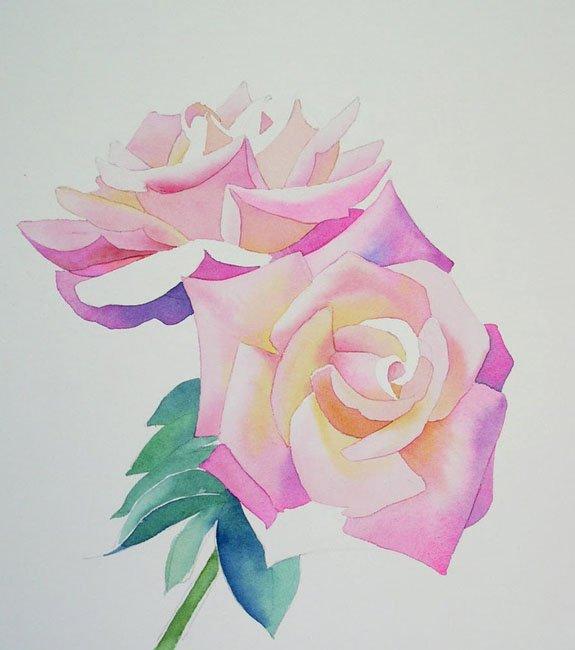 Розы акварелью, фото 2