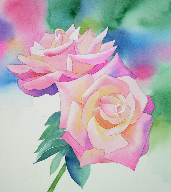 Розы акварелью, фото 3