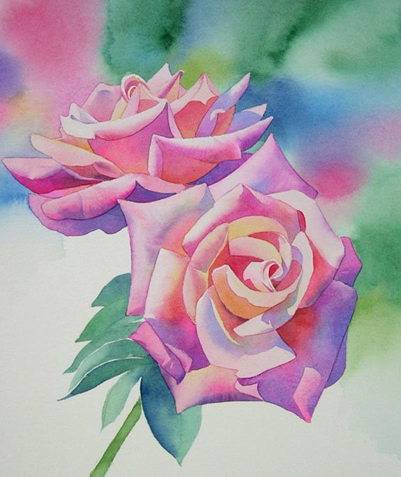 Розы акварелью, фото 4