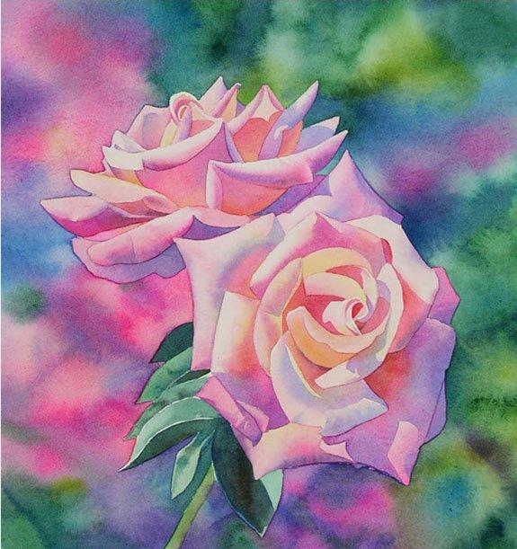 Розы акварелью, фото 5