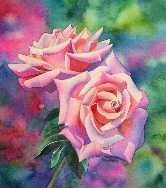 Розы акварелью, фото 6