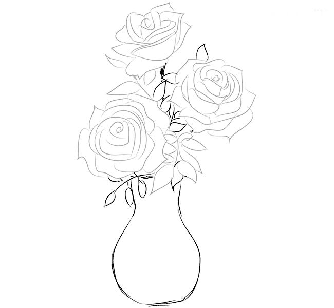 Розы в вазе, фото 4