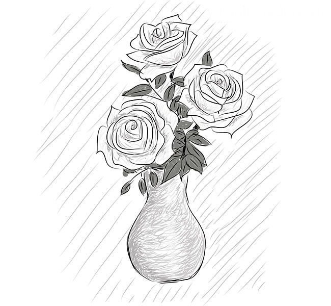 Розы в вазе, фото 6