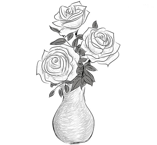 Розы в вазе, фото 5