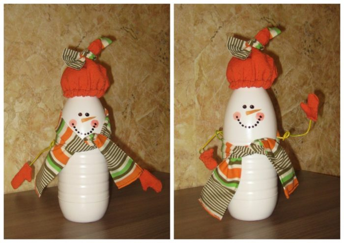 снеговик под елку своими руками