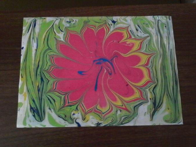 Готовая композиция с цветком