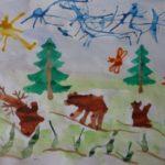 Рисунок «Медведица и медвежата»