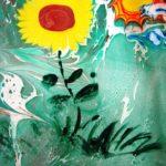 Рисунок «Одуванчик на солнышке»