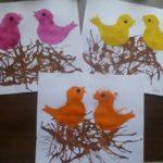 Рисунки на тему «Птички в гнезде»