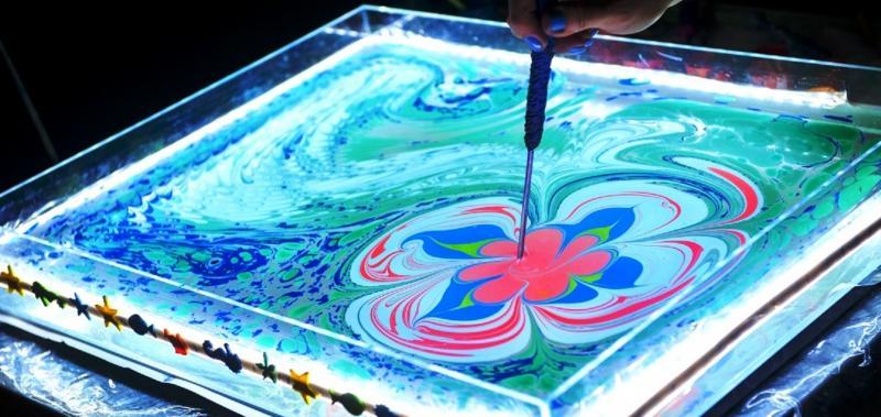 Рисование в нетрадиционной технике эбру- настоящий танец красок и фантазии, который не оставит дошкольников равнодушным