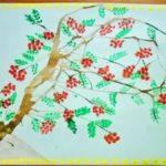 Рисунок ветки рябины