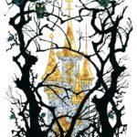 Иллюстрация Эрика Булатова, Олега Васильева с изображением леса и замка спящей красавицы