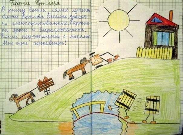 Детский читательский дневник