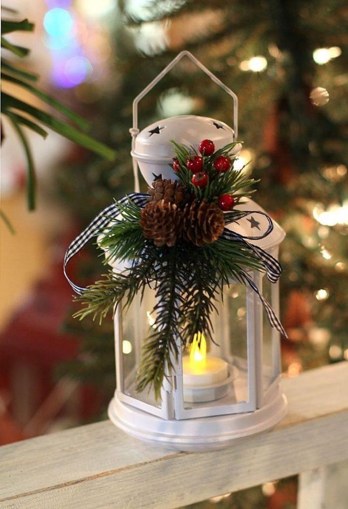 Украшение рождественского фонаря