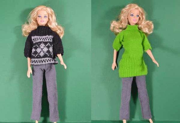 одежда для куклы из носка