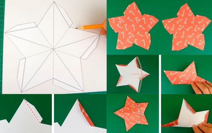 Шаблон для создания бумажной звёзды