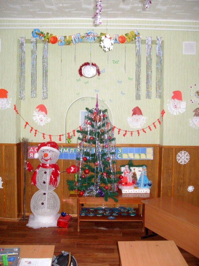 Новогодний декор для класса