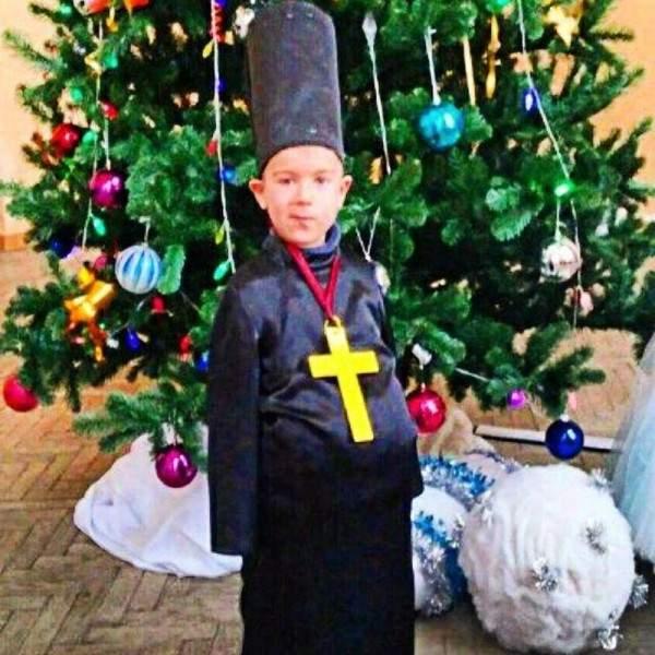 смешной новогодний костюм
