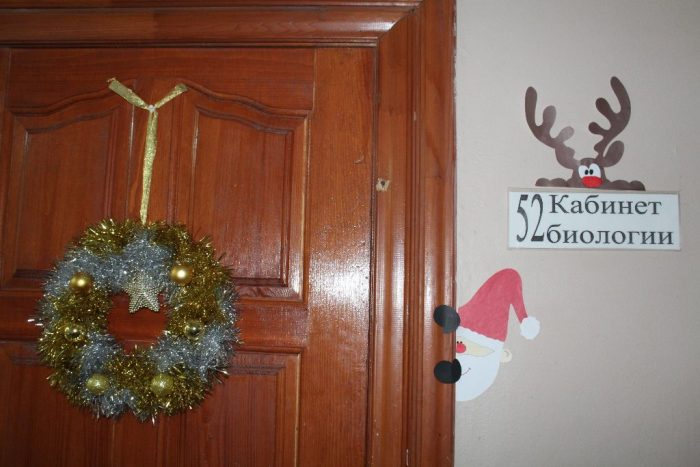 Новогодний декор для двери