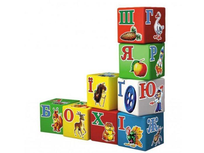 Кубики с буквами
