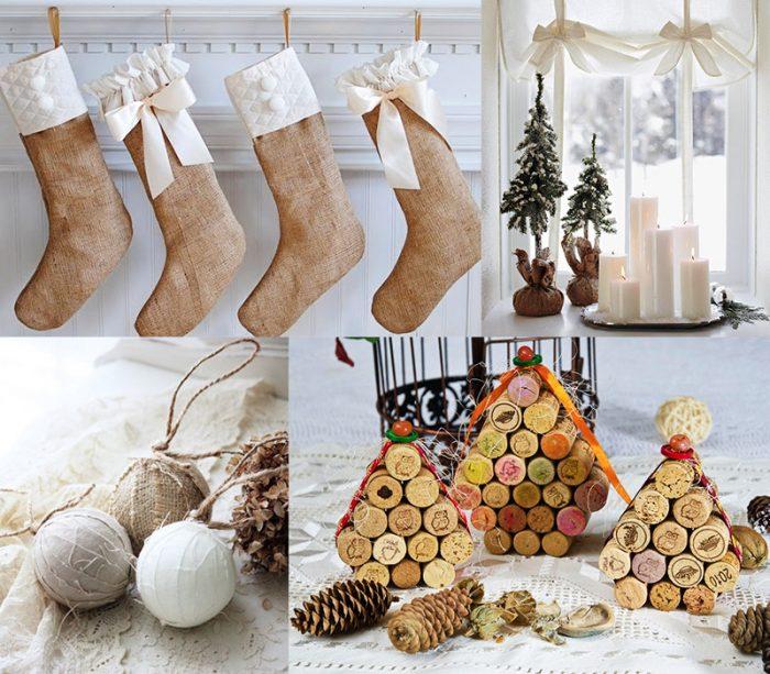 Идеи для украшения дома на Новый год — свечи, носки, шары, поделки