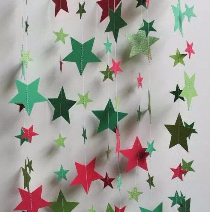 Новогодние звёздочки своими руками