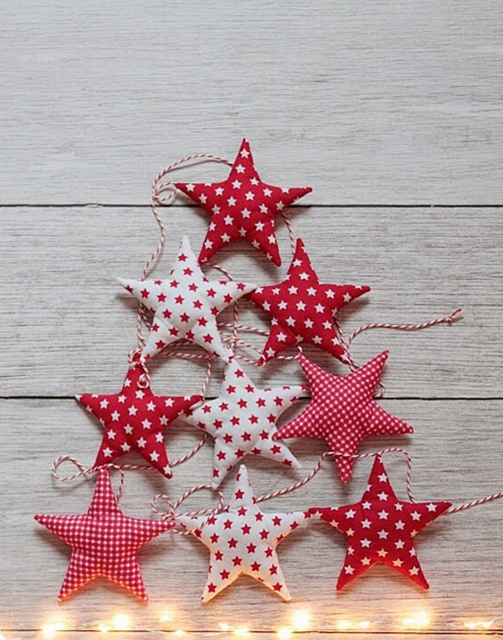Самодельные новогодние звёздочки