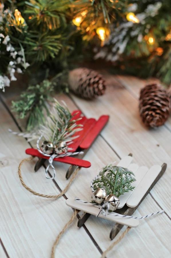 Сани Деда Мороза как сделать