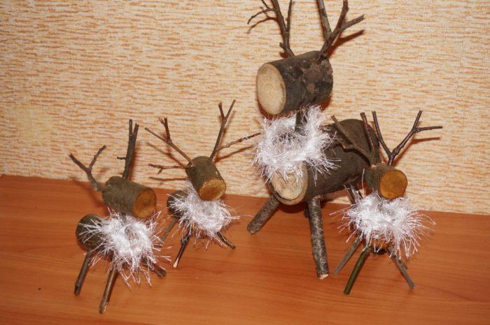 Новогодний олень своими руками