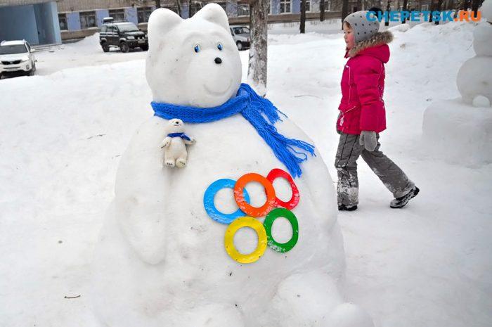 Фигура из снега своими руками