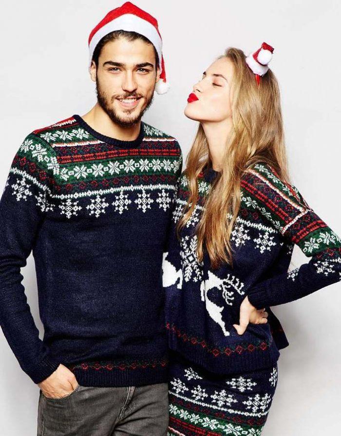 Мужской свитер новогодний