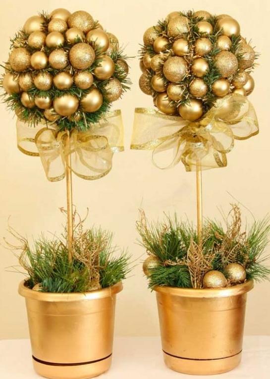 Новогодний топиарий шарик