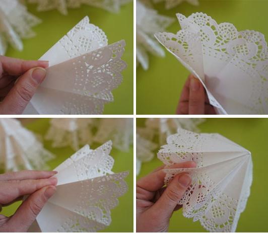 Новогодняя поделка из бумажных салфеток