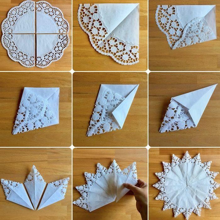 Поделки из бумажных салфеток на Новый год