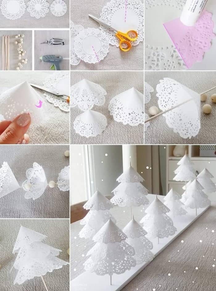 Поделки на Новый год из бумажных салфеток